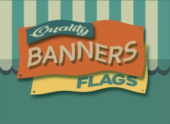 Banners come in a variety of sizes, for indoor or outdoor usage.